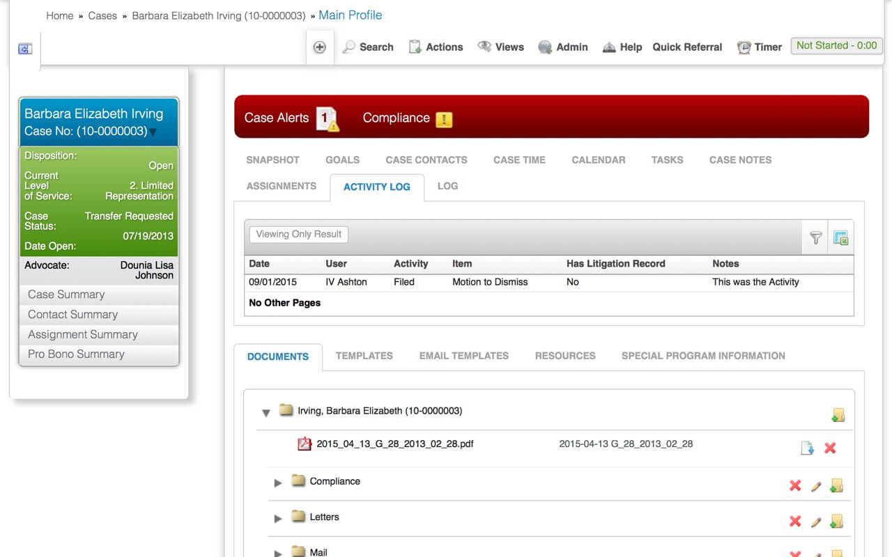 case management 1 screenshot
